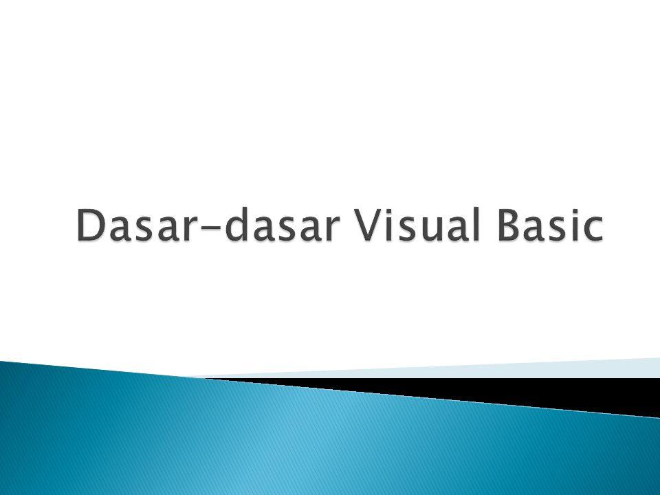 Gambaran Proses : Call Hitung_VAL (BIL_1,BIL_2,NILAI) Sub Hitung_VAL (X, Y, ByVal HASIL) 5.2.c.