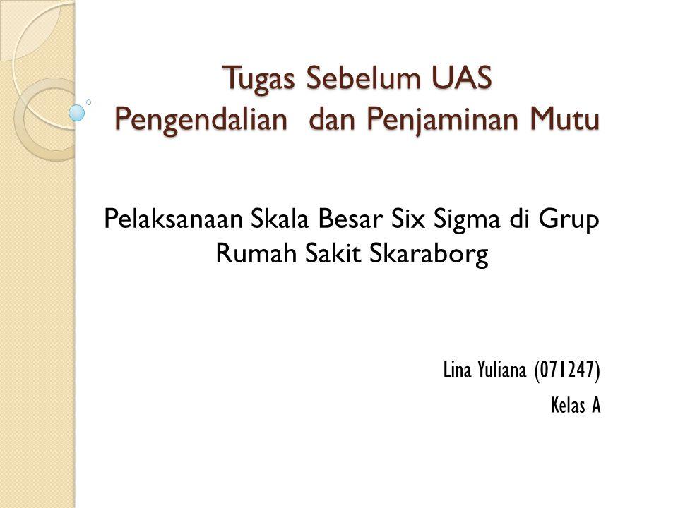 Tugas Sebelum UAS Pengendalian dan Penjaminan Mutu Lina Yuliana (071247) Kelas A Pelaksanaan Skala Besar Six Sigma di Grup Rumah Sakit Skaraborg