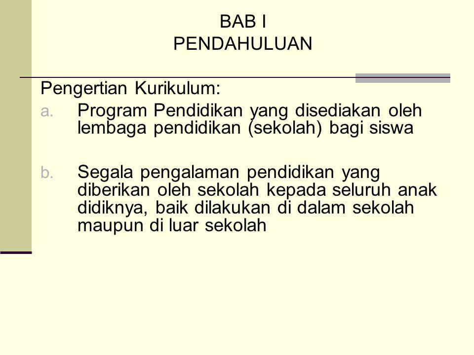 Bab II MANAJEMEN PENGEMBANGAN KURIKULUM A.