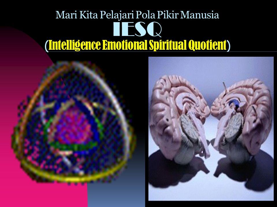 Mari Kita Pelajari Pola Pikir Manusia IESQ ( Intelligence Emotional Spiritual Quotient )