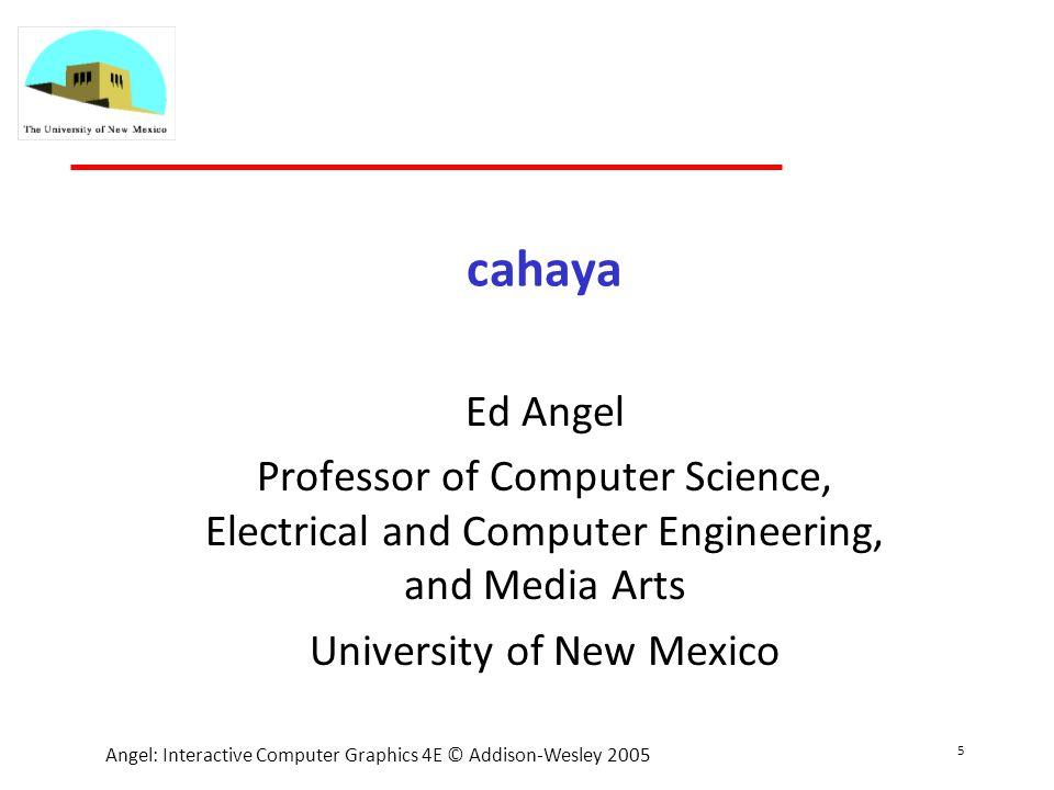 6 Angel: Interactive Computer Graphics 4E © Addison-Wesley 2005 Kenapa cahaya penting.