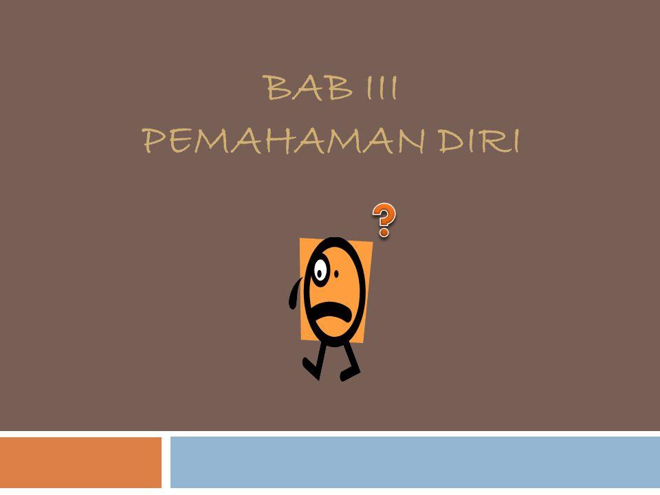 BAB III PEMAHAMAN DIRI