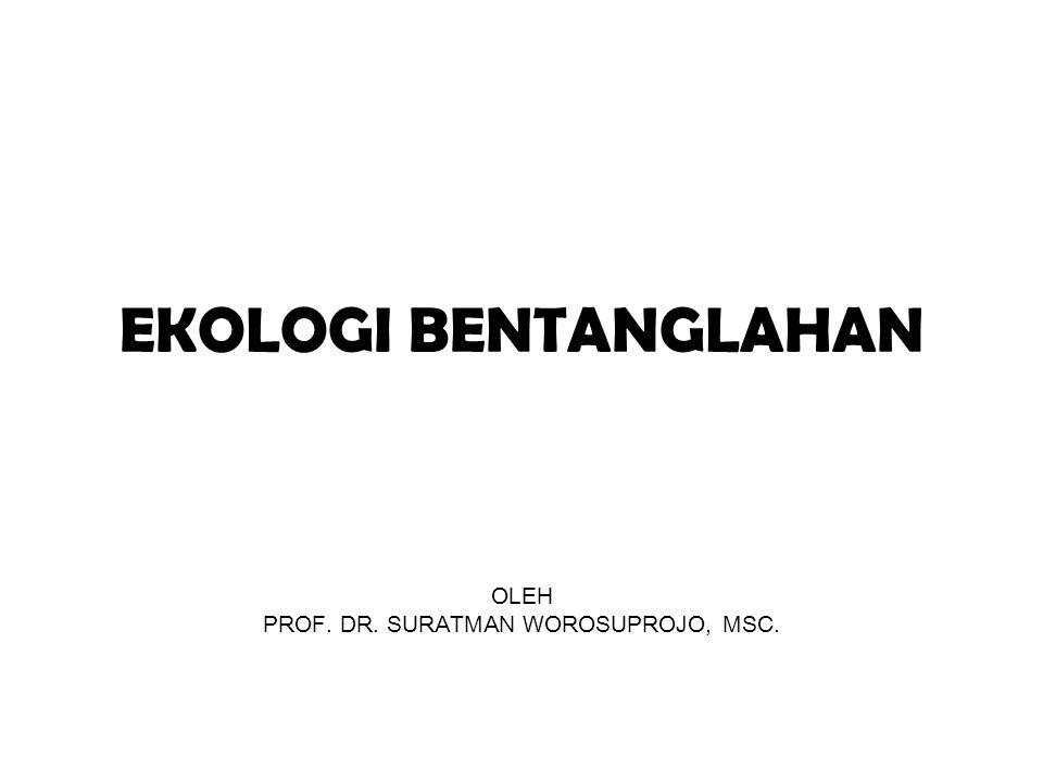 EKOLOGI BENTANGLAHAN OLEH PROF. DR. SURATMAN WOROSUPROJO, MSC.