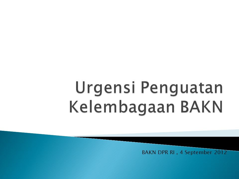 BAKN DPR RI, 4 September 2012