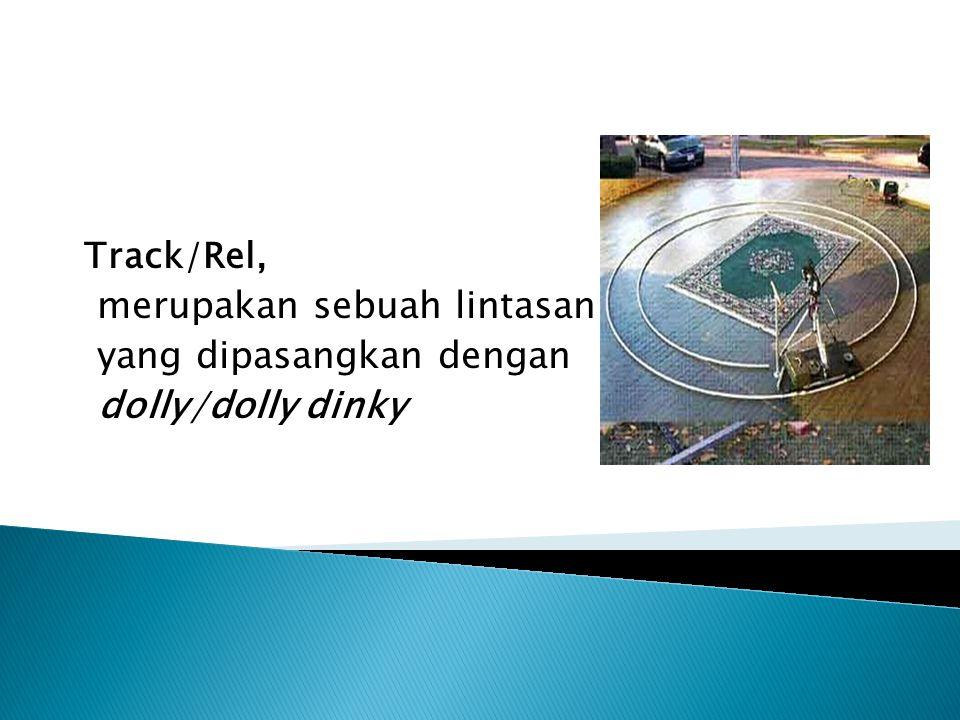 Track/Rel, merupakan sebuah lintasan yang dipasangkan dengan dolly/dolly dinky