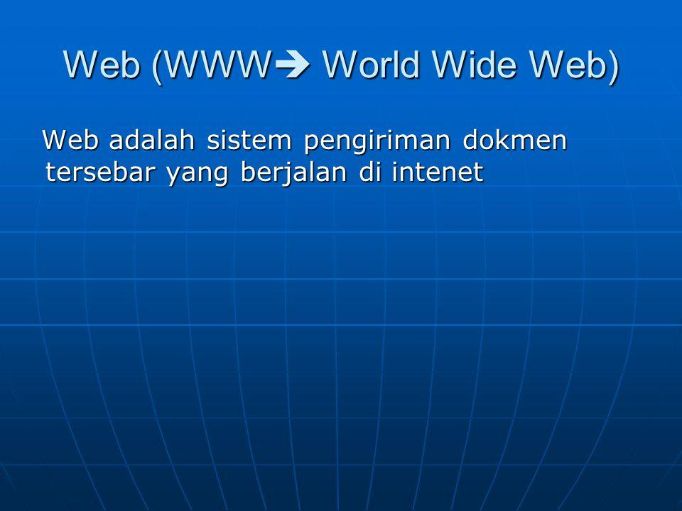 INTERNET Internet adalah jaringan antara komputer di seluruh dunia