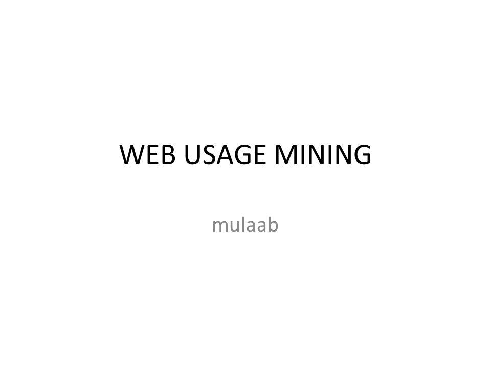 Web usage mining process Bing Liu2