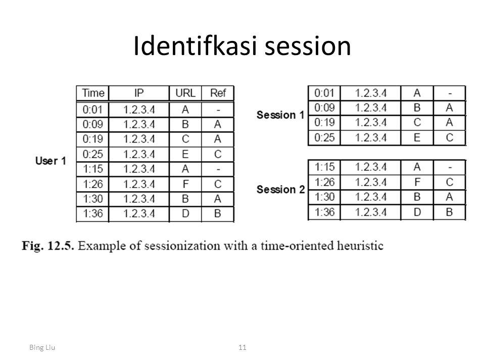 Identifkasi session Bing Liu11
