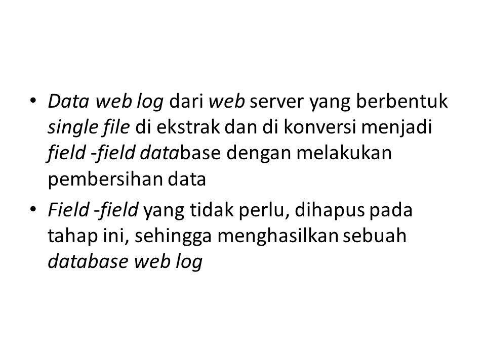 Contoh web log conversi ke database