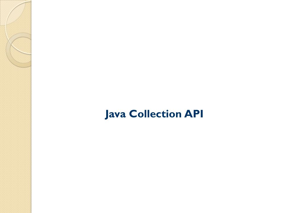 Java Collection API