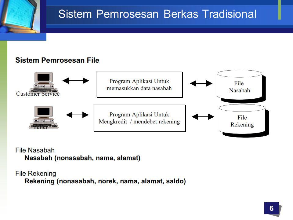 6 Sistem Pemrosesan Berkas Tradisional