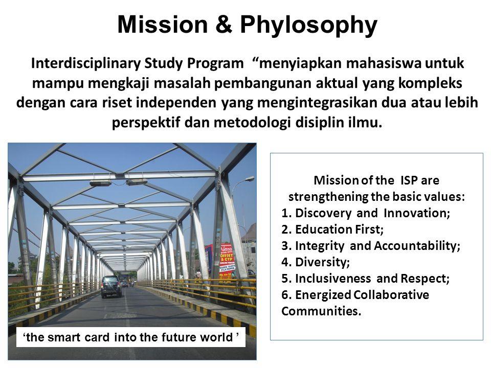 """Mission & Phylosophy Interdisciplinary Study Program """"menyiapkan mahasiswa untuk mampu mengkaji masalah pembangunan aktual yang kompleks dengan cara r"""