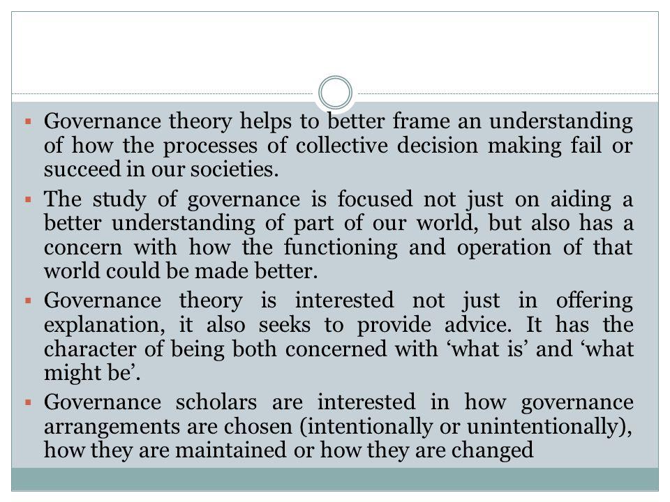 Government dan Governance Government (Stoker, 1998) menunjuk pada : 1.