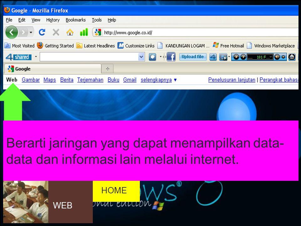 Hyperlink Fasilitas referensi hubungan sebuah kata, kalimat, simbol, gambar dengan alamat-alamat diinternet.