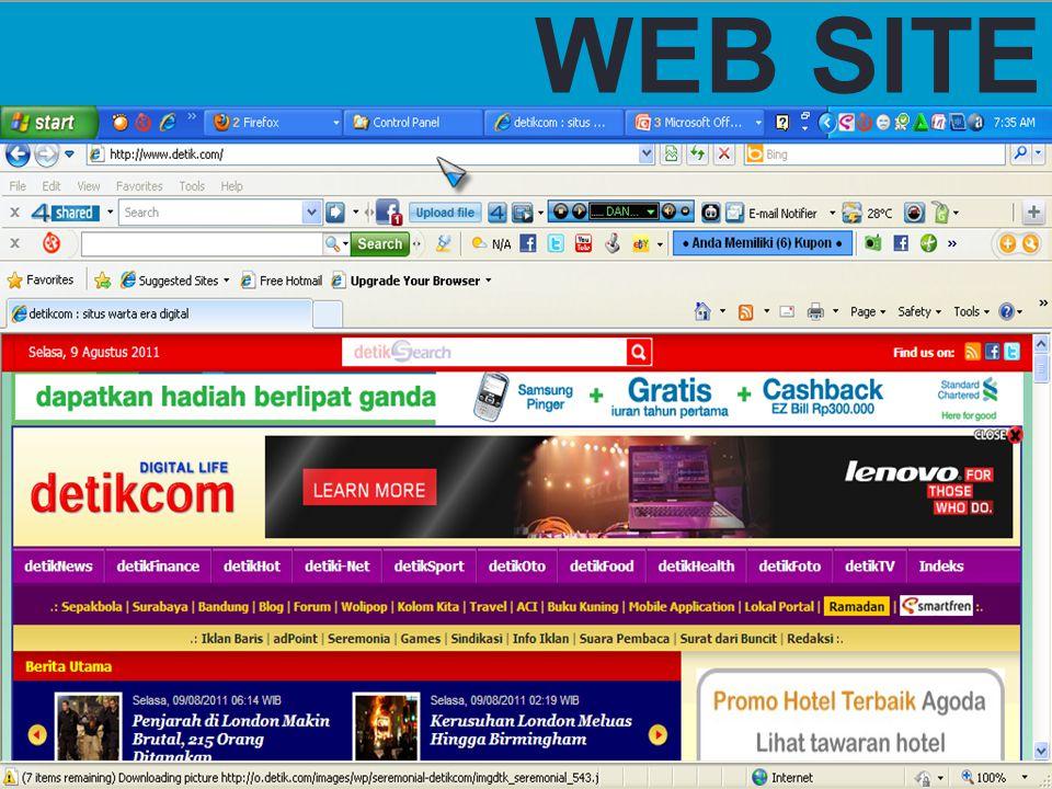HOME PAGE HOME PAGE Halaman muka sebuah web site, berisi link- link ke halaman wibe site yang sama.