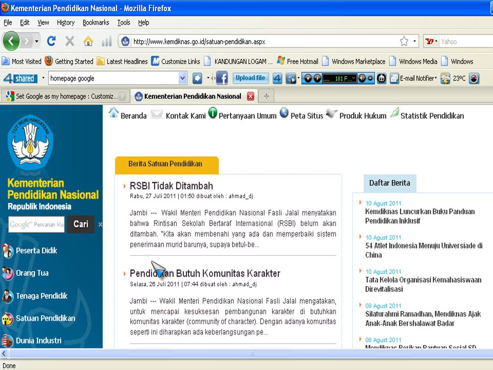 WEB PAGE WEB PAGE Merupakan bagian dari web site yang merupakan lembaran-lembaran halaman sebuah web site