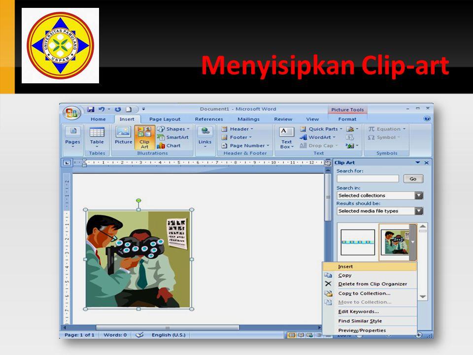 Menyisipkan Clip-art