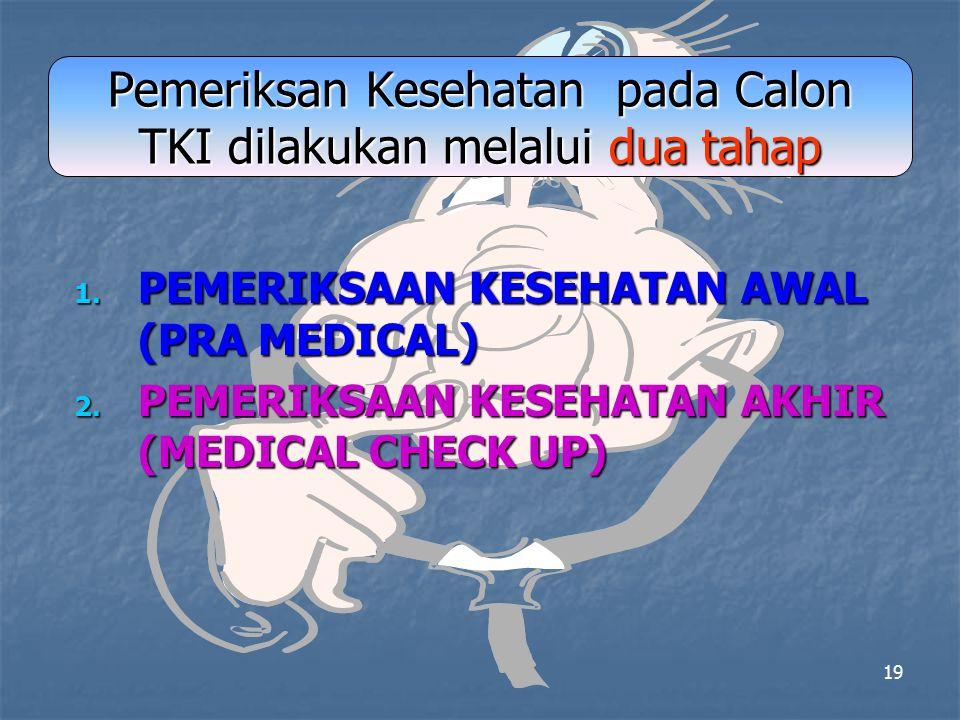 18 DATA SARKES DI DAERAH KANTONG TKI No BP3TKI / P4TKI POTENSI CTKI 1 Banda Aceh 5.000 2Medan30.000 3 Pekan Baru 50.000 4Palembang15.000 5Bandung50.00