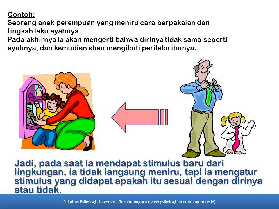 Contoh: Seorang anak perempuan yang meniru cara berpakaian dan tingkah laku ayahnya.