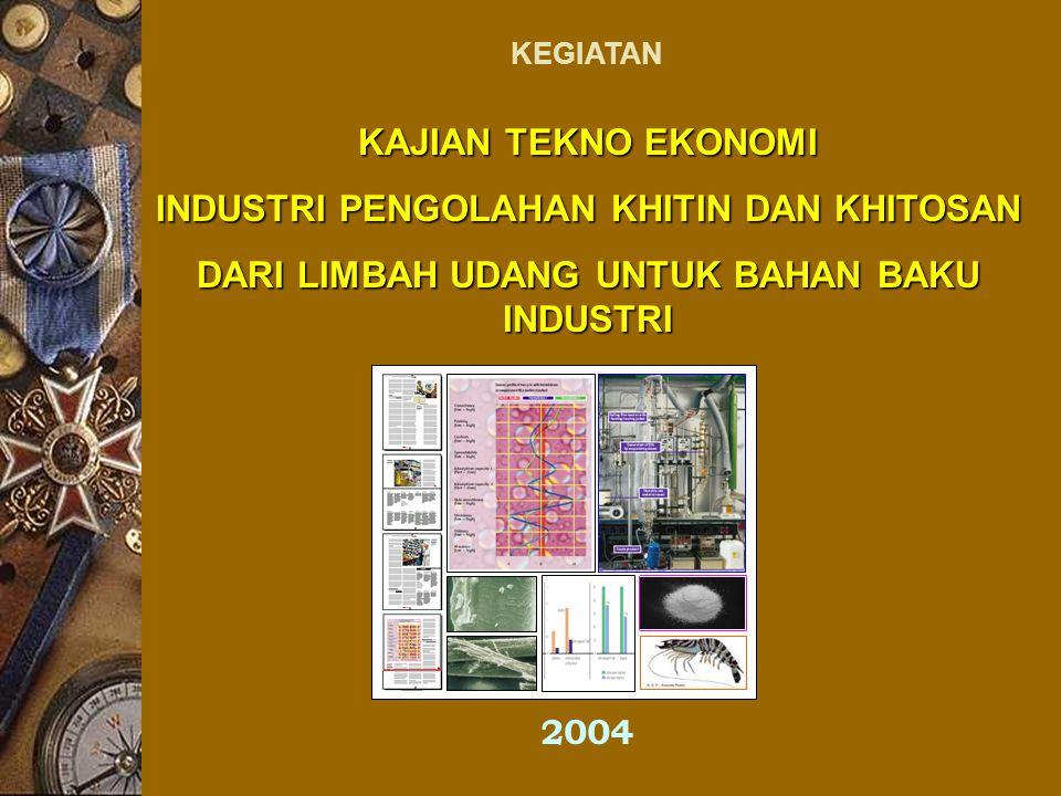Diagram Alir Kualitatif Proses Pengolahan Limbah Udang Menjadi Khitin dan Khitosan yang Diterapkan di Pabrik D.