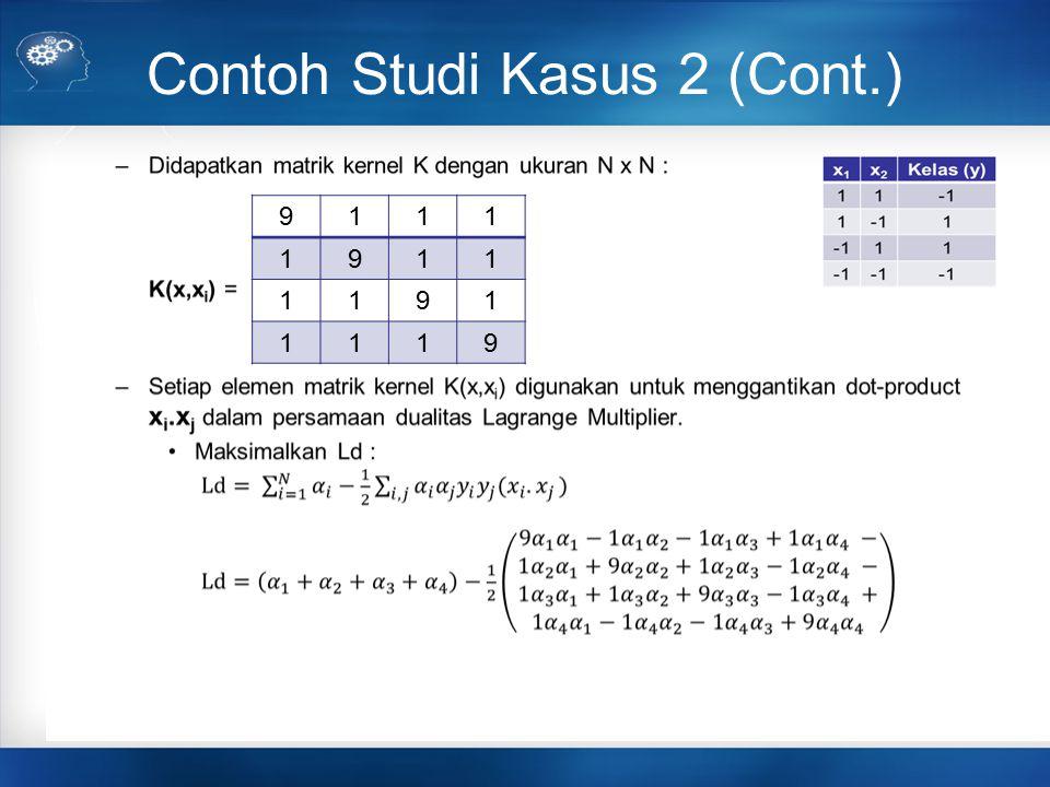 Contoh Studi Kasus 2 (Cont.) 9111 1911 1191 1119