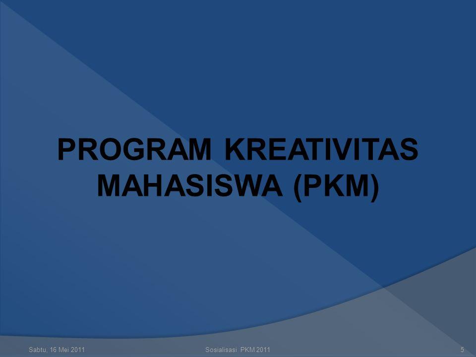 Sabtu, 16 Mei 2011Sosialisasi PKM 20114 MENGAPA KITA MENULIS  Alasan praktis : nilai kredit  Alasan ideal : kontribusi pada IPTEKS  Alasan teknis :