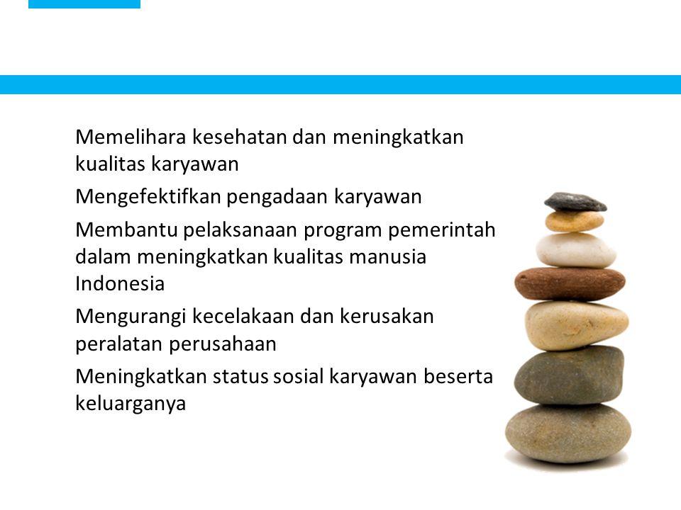 12 Memelihara kesehatan dan meningkatkan kualitas karyawan Mengefektifkan pengadaan karyawan Membantu pelaksanaan program pemerintah dalam meningkatka