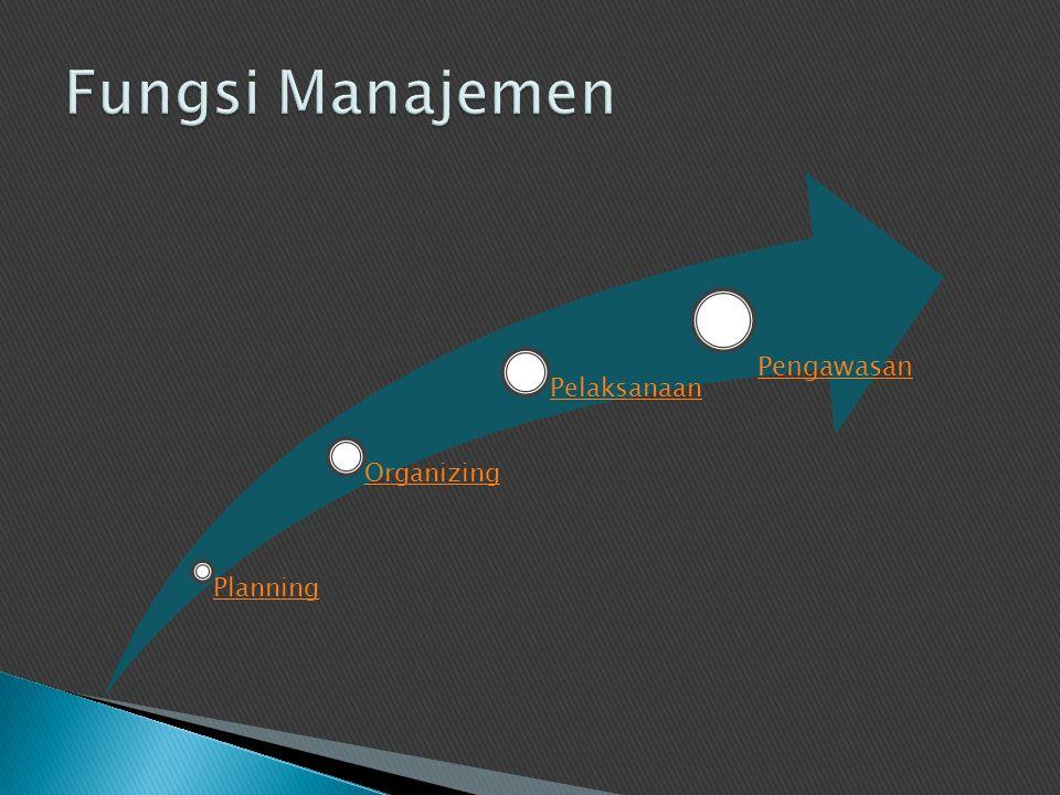Planning Organizing Pelaksanaan Pengawasan
