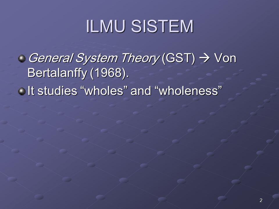 3 Definisi Sistem sistem Systema (latin) Sustema (yunani)