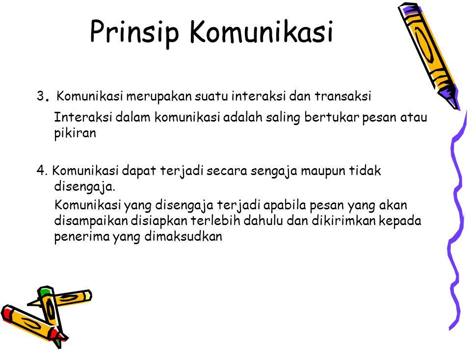 Prinsip Komunikasi 3.