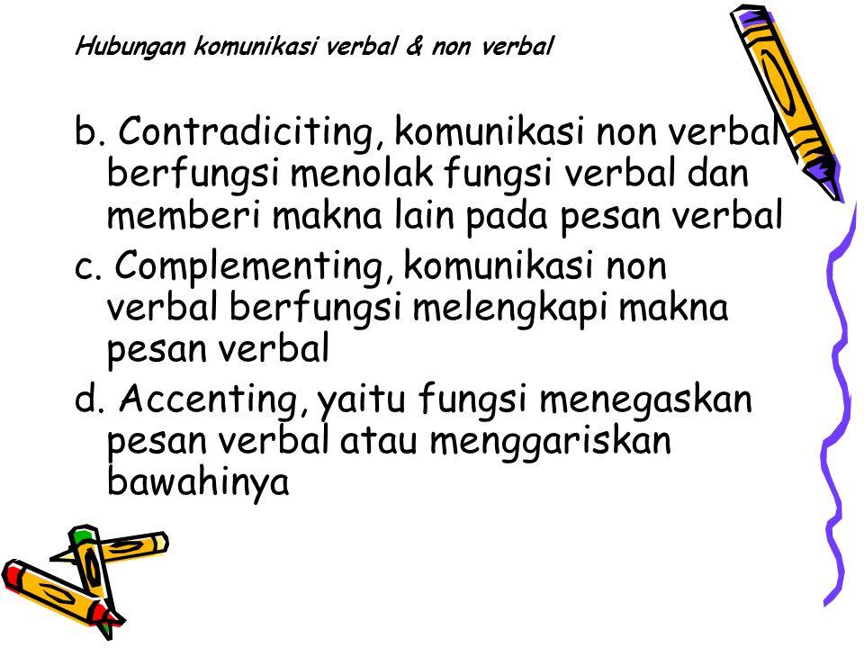 Hubungan komunikasi verbal & non verbal b.