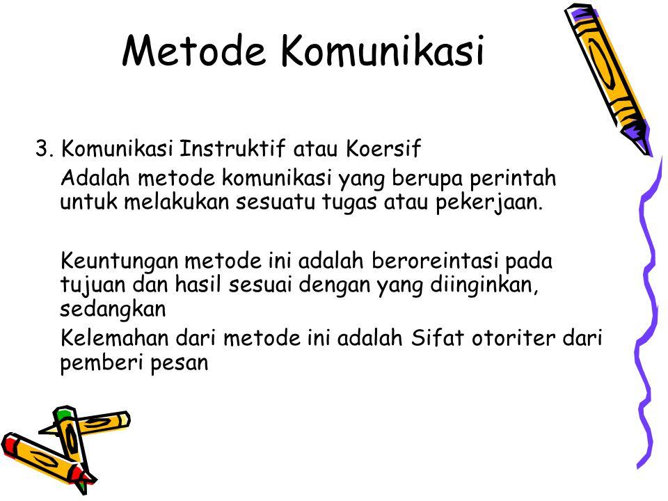 Metode Komunikasi 3.