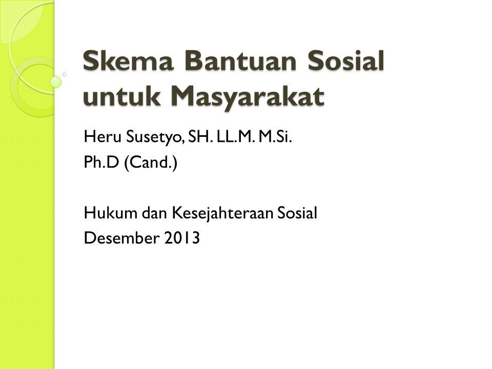 Skema Bantuan Sosial untuk Masyarakat Heru Susetyo, SH.