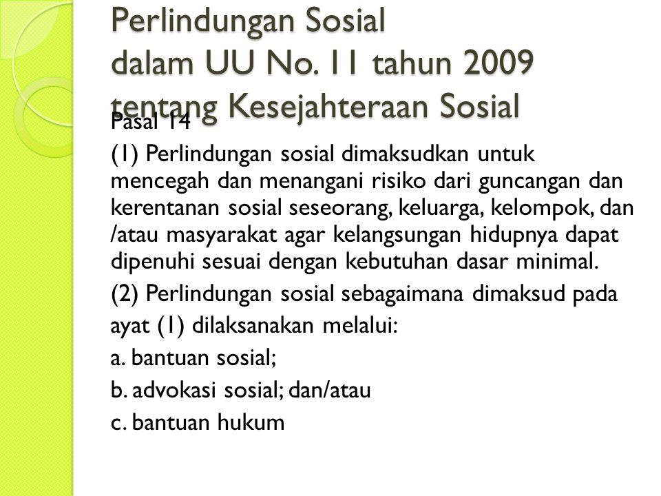 Perlindungan Sosial dalam UU No.