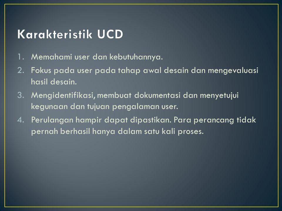 1.Memahami user dan kebutuhannya.