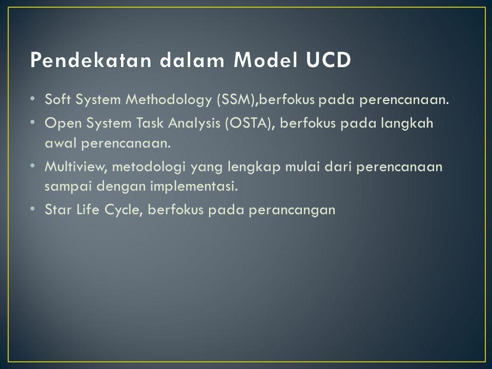 Soft System Methodology (SSM),berfokus pada perencanaan.