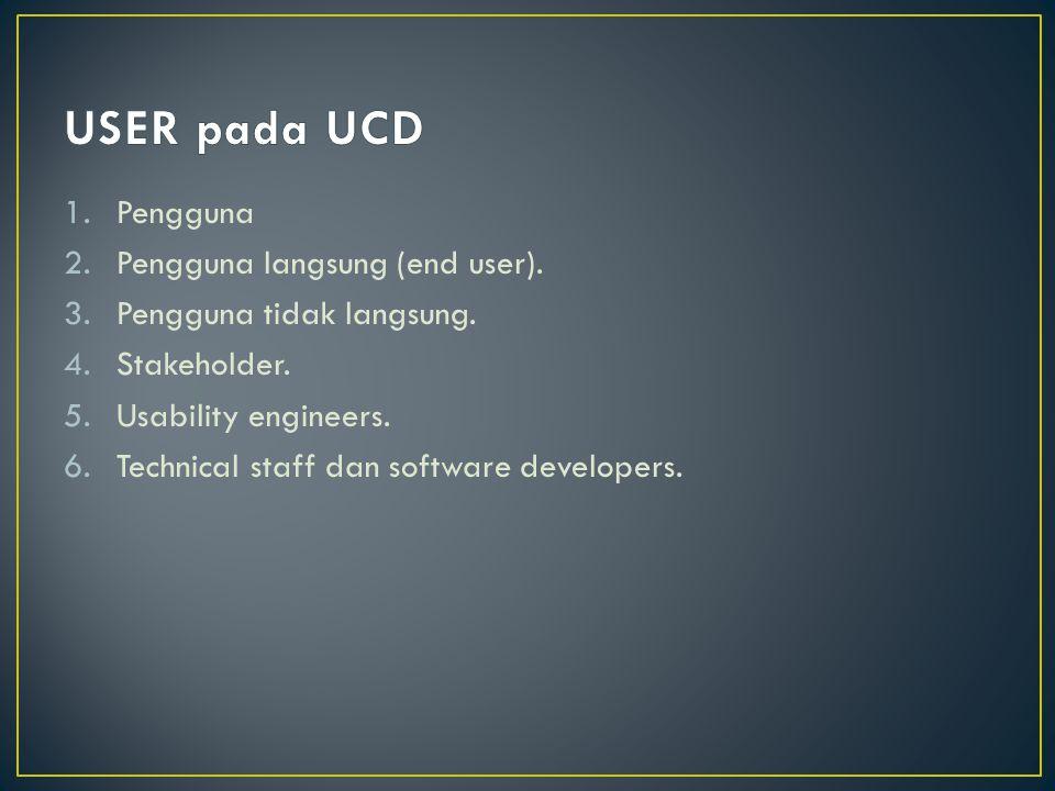 1.Pengguna 2.Pengguna langsung (end user).3.Pengguna tidak langsung.