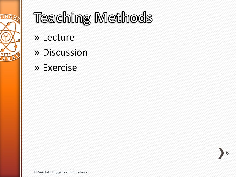» Lecture » Discussion » Exercise 6 © Sekolah Tinggi Teknik Surabaya