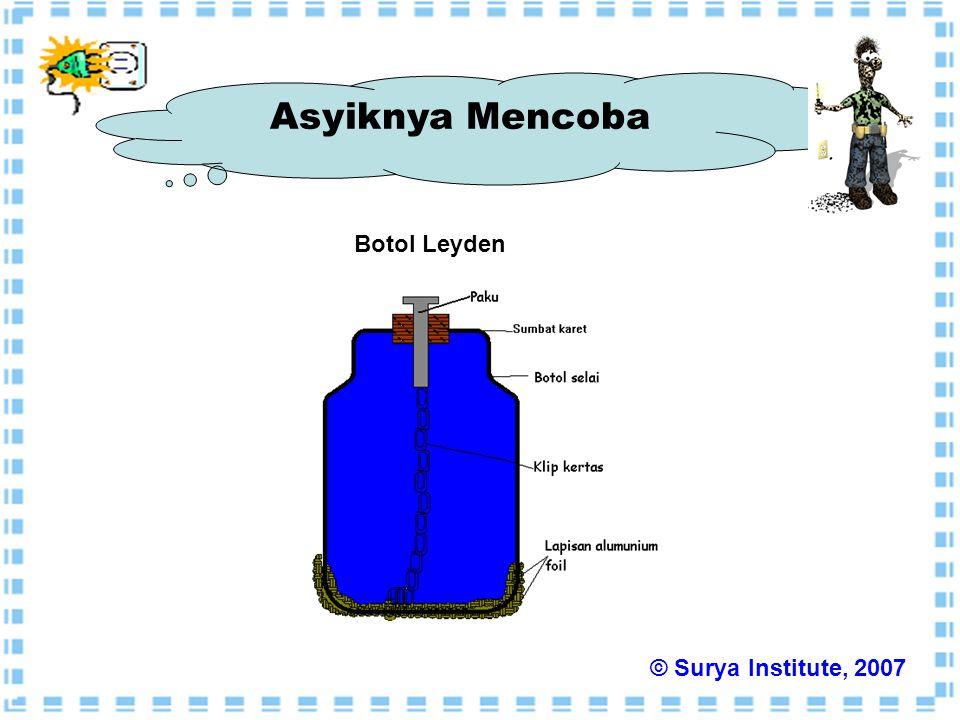 Botol Leyden Asyiknya Mencoba © Surya Institute, 2007