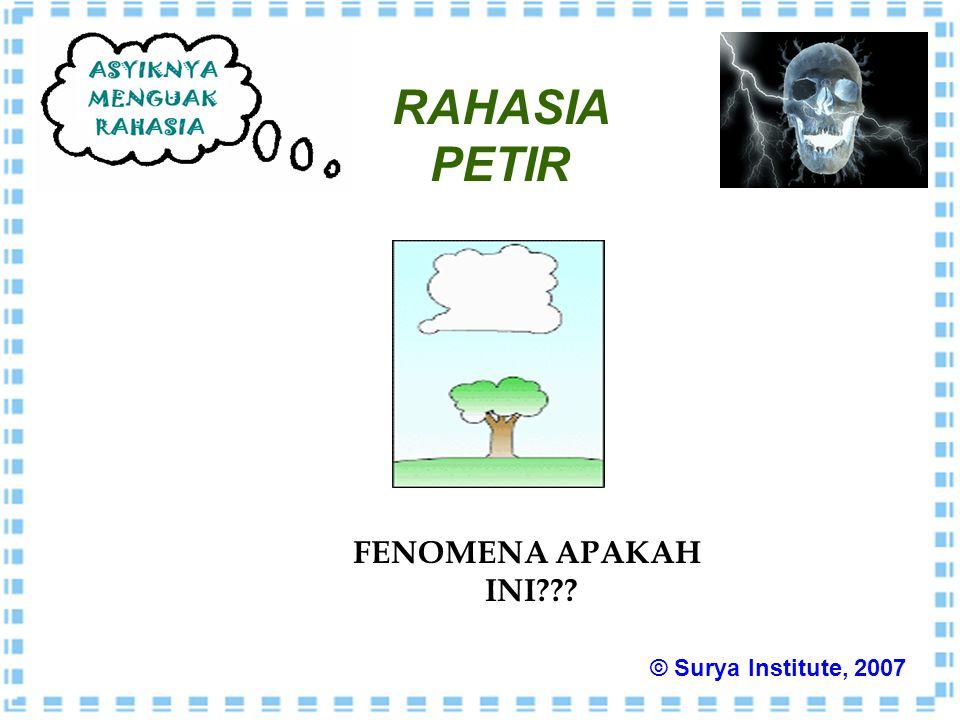RAHASIA PETIR FENOMENA APAKAH INI??? © Surya Institute, 2007