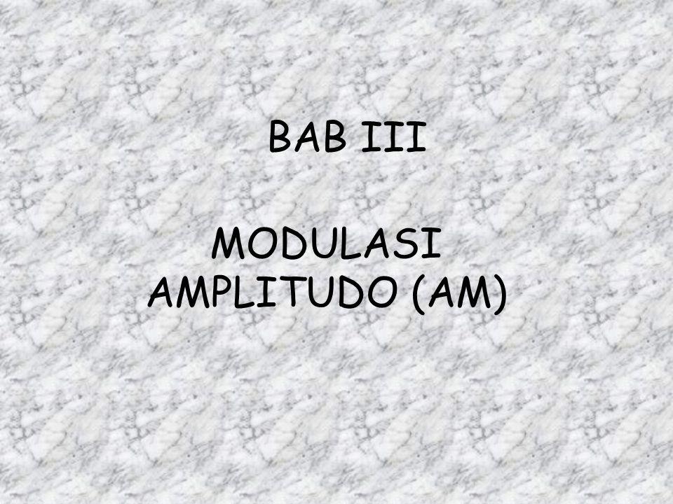 BAB III MODULASI AMPLITUDO (AM)
