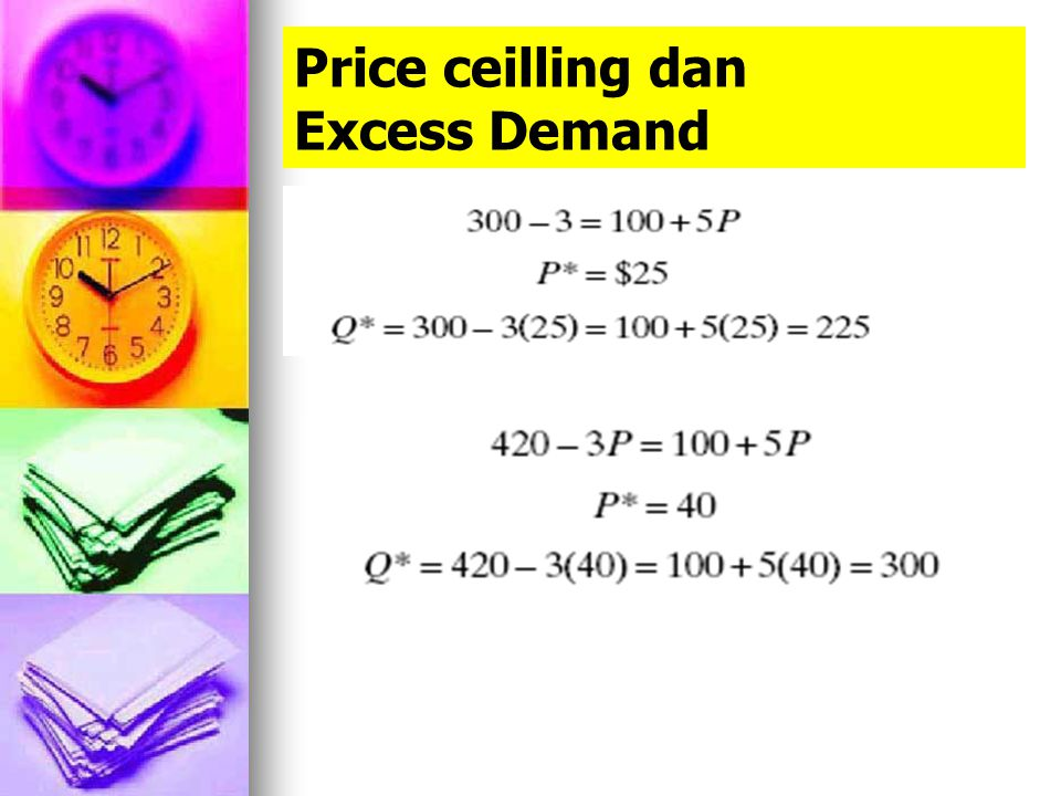 Price ceilling dan Excess Demand