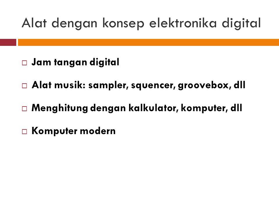 Konsep Teknologi Digital Teknologi digital menggunakan sistem bit dan bite, untuk menyimpan dan memproses data, sistem digital mempekerjakan sejumlah besar switch listrik mikroskopis yang hanya memiliki dua keadaan atau nilai.