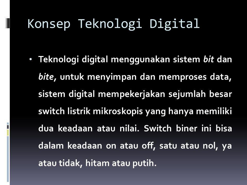  Istilah digital adalah menunjuk kepada jari- jari kaki dan tangan, yang telah dipakai selama ribuan tahun untuk menghitung dan menggambarkan data-data numers.