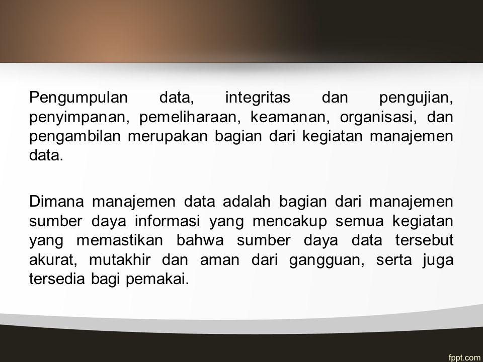 Penyimpanan Data Penyimpanan berurutan (Sequential Access Storage Device) Suatu organisasi / penyusunan data di suatu medium penyimpanan yang terdiri dari suatu catatan mengikuti satu catatan lain dalam suatu urutan tertentu.