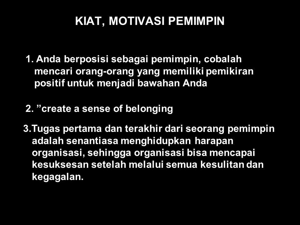 KIAT, MOTIVASI PEMIMPIN 1.
