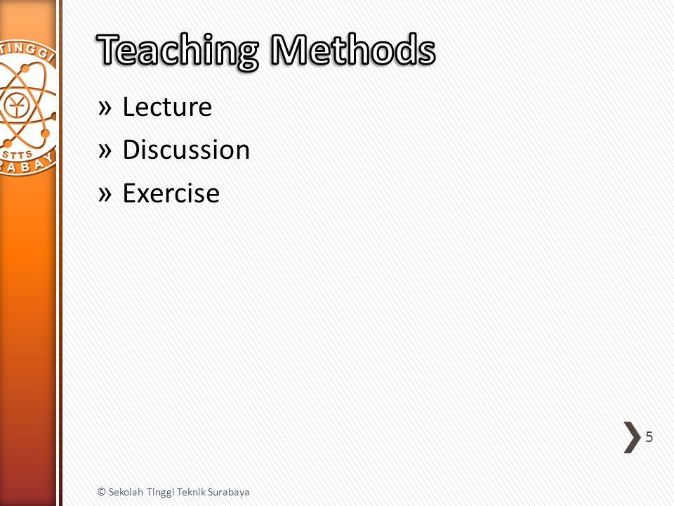 » Lecture » Discussion » Exercise 5 © Sekolah Tinggi Teknik Surabaya