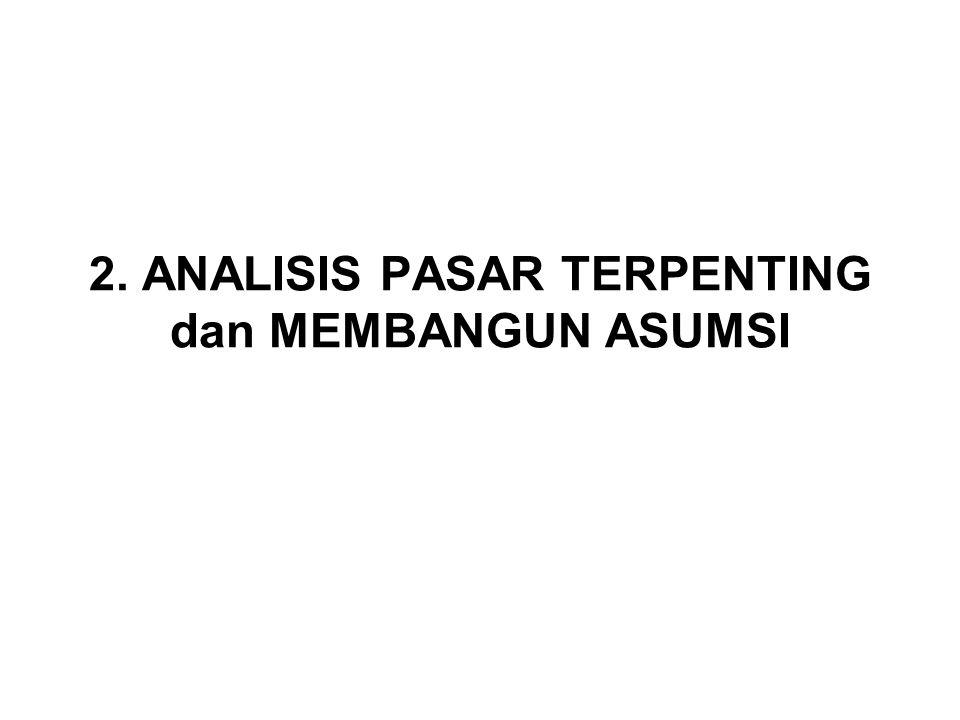 2. ANALISIS PASAR TERPENTING dan MEMBANGUN ASUMSI