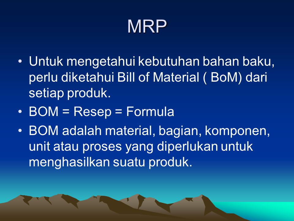Bill of Materials (BOM) File A Complete Product Description Materials Parts Components Production sequence