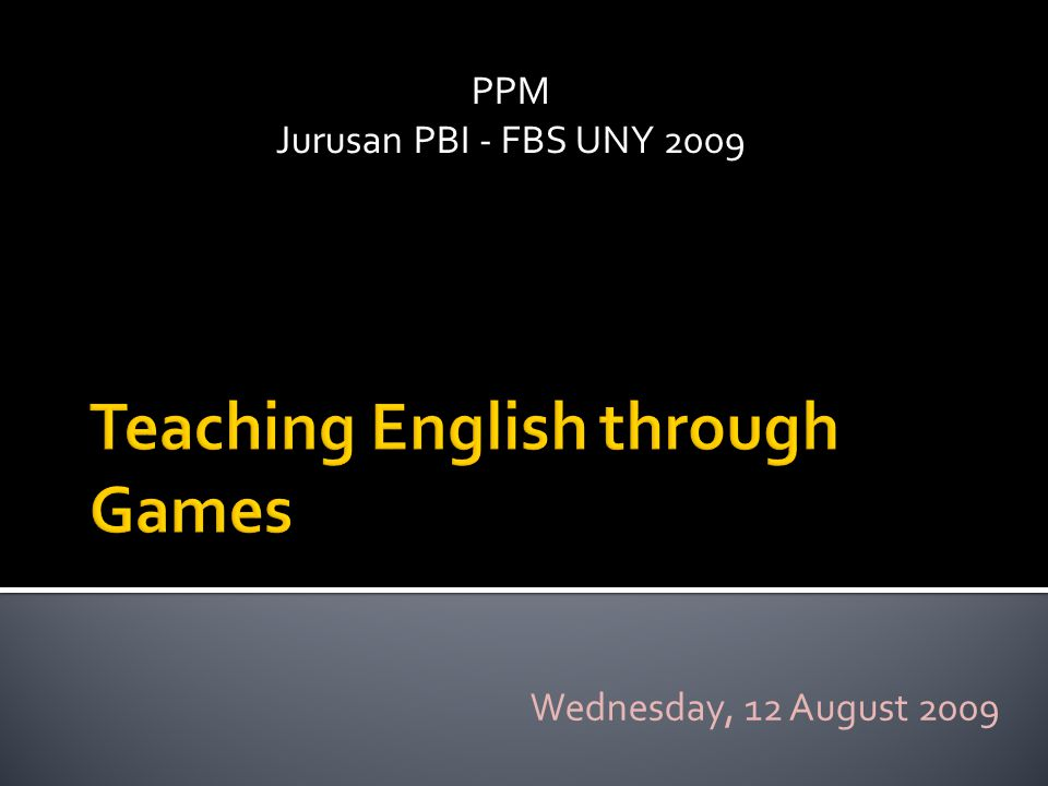 PPM Jurusan PBI - FBS UNY 2009 Wednesday, 12 August 2009